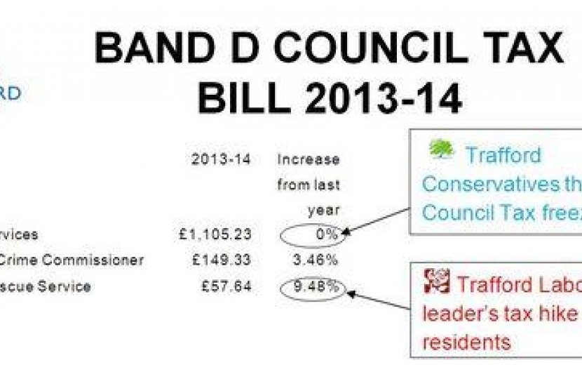 trafford council tax support